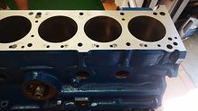 Green datsun 240z engine block restoration