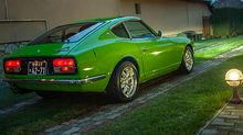 Led brake lights on this fully restored Green Datsun 240z now for sale
