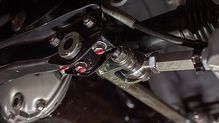 Alumiunium racing control arms for a Green Datsun 240z for sale