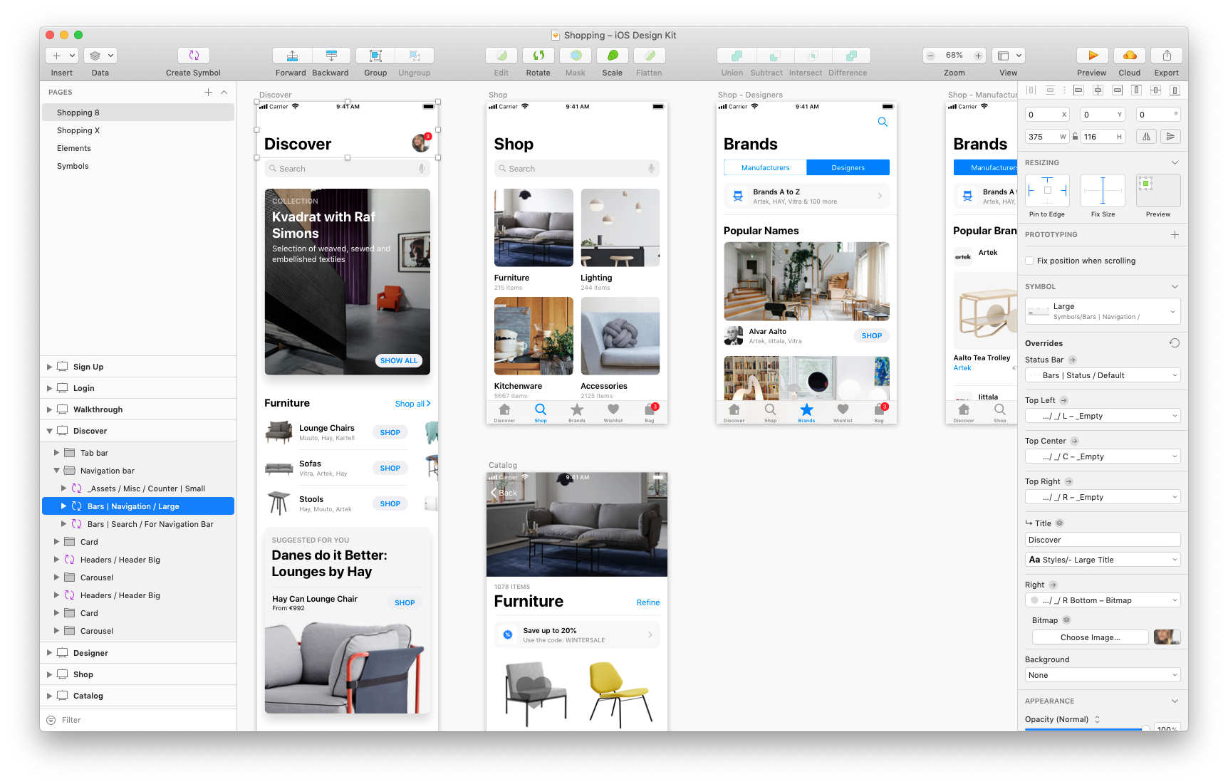 Ios Design Kit Library Of Ios App Templates And Ui Elements